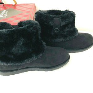 NEW Arizona Jean Co Fur Lined Ankle Boots